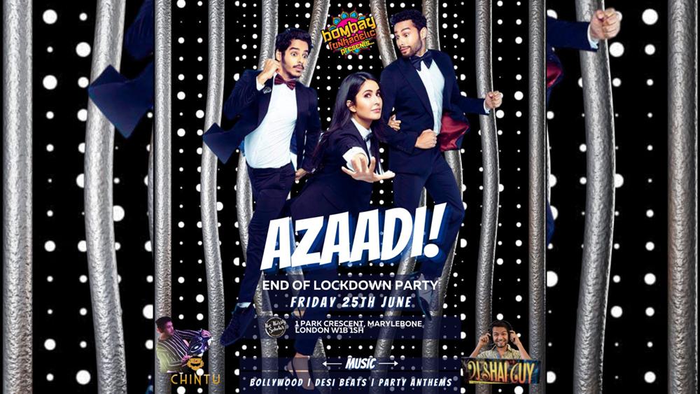Bombay Funkadelic presents Azaadi! End of Lockdown party 25 June 2021